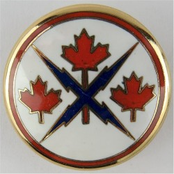 Canadian Forces Communications Command Breast Badge / Fob  Enamel