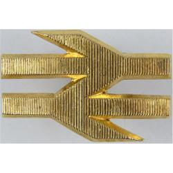 British Rail Train Driver's Cap Badge: Double-Arrows 52mm Wide - Ribbed  Gilt