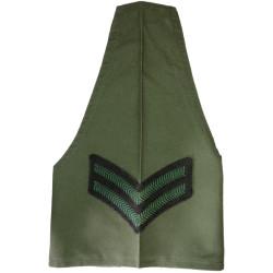 Royal Irish Rangers Corporal Brassard Olive Green  Embroidered Arm-Band or Brassard