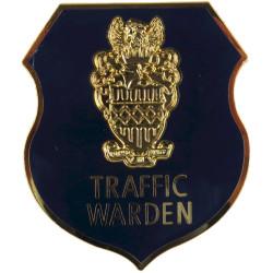 West Midlands Police Traffic Warden Shield Cap Badge  Chrome and enamelled Police or Prisons hat badge