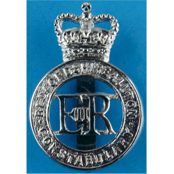 Bedfordshire & Luton Constabulary - EiiR Centre Cap Badge 1966-1974 with Queen Elizabeth's Crown. Chrome-plated Police or Prison