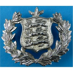 Guernsey Police Force (Channel Islands) Cap Badge  Chrome-plated Police or Prisons hat badge