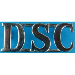 DSC (Devon Special Constabulary) Shoulder Title 50mm Wide  Chrome-plated UK Police or Prison insignia