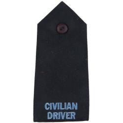Police Civilian Driver - Shoulder Strap Sky Blue On Navy  Embroidered UK Police or Prison insignia
