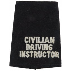 Police Civilian Driving Instructor Slip-On Title White On Black  Embroidered UK Police or Prison insignia