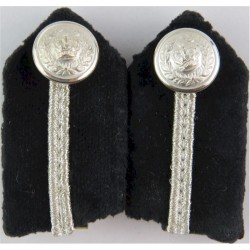 Gorgets - Senior Police Officers - Clip-On Small Size For Shirt with Queen Elizabeth's Crown. Bullion wire-embroidered UK Police