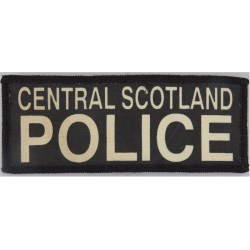 Central Scotland Police Pullover Badge - Rectangle 130mm X 52mm  Printed UK Police or Prison insignia