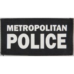 Metropolitan / Police (Words On Black Rectangle) 9.5cm X 5cm  Printed UK Police or Prison insignia