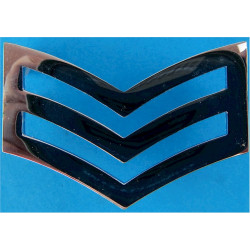 Police Sergeant's Chevrons - Plain Edges 43mm Wide  Chrome-plated UK Police or Prison insignia