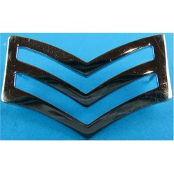 Police Sergeant's Chevrons - Plain Edges 44.5mm Wide  Chrome-plated UK Police or Prison insignia