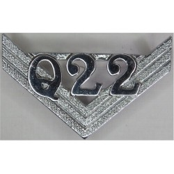 Police Sergeant's Chevrons - Metropolitan Police Q Division - Wembley  Chrome-plated UK Police or Prison insignia