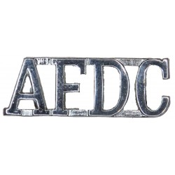 AFDC (Air Force Department Constabulary) Shoulder Title 1964-1971  Chrome-plated UK Police or Prison insignia