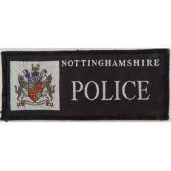 Nottinghamshire Police Rectangle + Crest  Woven UK Police or Prison insignia