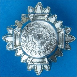 Inspector's Rank Star (pip) 25.5mm Side  Chrome-plated UK Police or Prison insignia