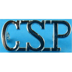 CSP (Central Scotland Police) Shoulder Title  Chrome-plated UK Police or Prison insignia