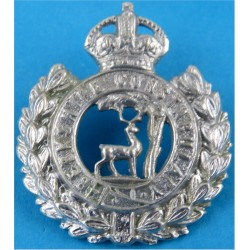 Berkshire Constabulary Collar Badge - FR with King's Crown. Chrome-plated UK Police or Prison insignia