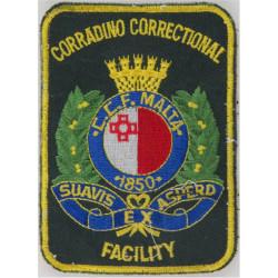 Malta Prisons - Corradino Correctional Facility Arm Badge  Embroidered Overseas Police, Prison or Corrections insignia