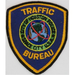 USA: Texas: City Of Houston Police: Traffic Bureau Arm-Badge  Embroidered Overseas Police, Prison or Corrections insignia