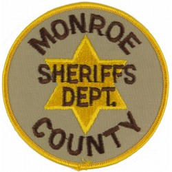 USA: Wisconsin: Monroe County Sheriffs Dept Arm-Badge  Embroidered Overseas Police, Prison or Corrections insignia