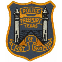 USA: Texas: Freeport Police Arm-Badge  Embroidered Overseas Police, Prison or Corrections insignia