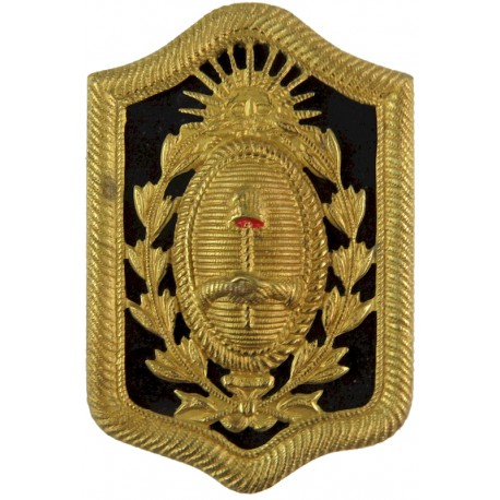 Argentina - Federal Capital Police Cap Badge - Old Type  Gilt Overseas Police, Prison or Corrections insignia