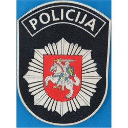 Lithuanian Police - Policija Shield Arm Badge  Rubberised Overseas Police, Prison or Corrections insignia