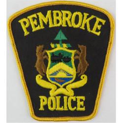 Canada: Ontario: Pembroke Police Arm Badge Pre-2013  Embroidered Overseas Police, Prison or Corrections insignia