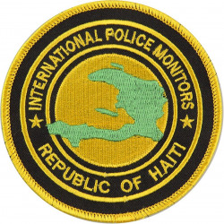 International Police Monitors Republic Of Haiti Arm Badge  Embroidered Overseas Police, Prison or Corrections insignia