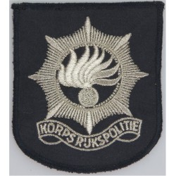 Netherlands National Police - Korps Rijkspolitie Arm Badge - Pre-1993  Lurex Overseas Police, Prison or Corrections insignia