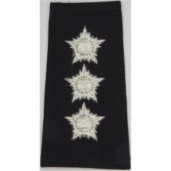 Kuwait Police - Captain Rank Slide  Mylar Overseas Police, Prison or Corrections insignia