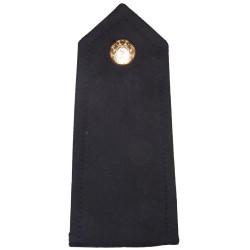 Garda Siochana (Irish Police) Epaulette Strap Black + Button   Overseas Police, Prison or Corrections insignia