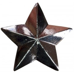 Qatar Police Officer's Rank Star   Chrome-plated Overseas Police, Prison or Corrections insignia