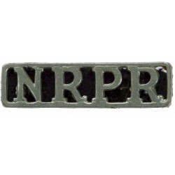 NRPR Northern Rhodesia Police Reserve Shoulder Title 1952-1964  Chrome-plated Overseas Police, Prison or Corrections insignia