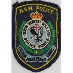 Australia: New South Wales Police  with Queen Elizabeth's Crown. Embroidered Overseas Police, Prison or Corrections insignia