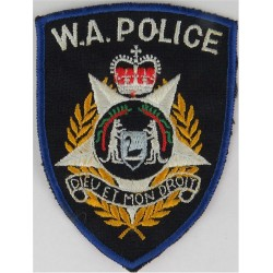 Australia: Western Australia Police  with Queen Elizabeth's Crown. Embroidered Overseas Police, Prison or Corrections insignia