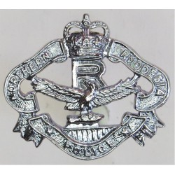 Northern Rhodesia Police Reserve Collar Badge FL - 1952-1964 with Queen Elizabeth's Crown. Chrome-plated Overseas Police, Prison