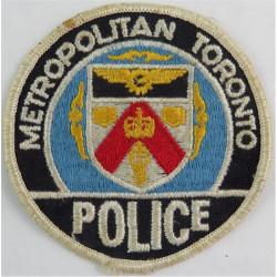 Canada: Metropolitan Toronto Police - Full Colour Circular Arm Badge  Embroidered Overseas Police, Prison or Corrections insigni
