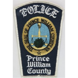 USA: Virginia: Prince William County Police Arm-Badge  Embroidered Overseas Police, Prison or Corrections insignia