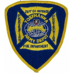 USA: Tobyhanna Army Depot Fire Department Arm-Badge  Embroidered Fire and Rescue Service insignia