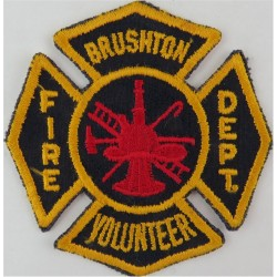 USA: New York: Brushton Volunteer Fire Department Arm-Badge  Embroidered Fire and Rescue Service insignia