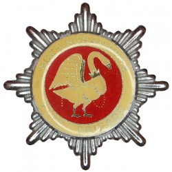 Buckinghamshire Fire Brigade (Thick Enamel) Cap Badge Swan Type  Chrome and enamelled Fire and Rescue Service insignia