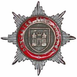 Doncaster Fire Brigade Cap Badge 1948-1974  Chrome, gilt and enamel Fire and Rescue Service insignia
