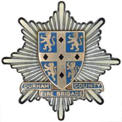 Durham County Fire Brigade Cap Badge 1969-1974  Chrome, gilt and enamel Fire and Rescue Service insignia