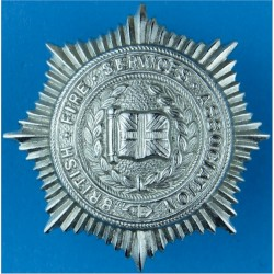 British Fire Services Association Cap Badge  Chrome-plated Fire and Rescue Service insignia