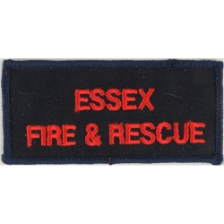 Essex Fire & Rescue Chest Badge Words On Rectangle  Embroidered Fire and Rescue Service insignia