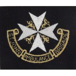 St John Ambulance Brigade Cross Over Scroll  Embroidered Ambulance Insignia