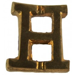 Red Cross Letter 'H' (Honorary Commandant) WW2 Shoulder Title  Brass Ambulance Insignia
