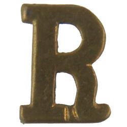 Red Cross Letter 'R' (Reserve Commandant) WW2 Shoulder Title  Brass Ambulance Insignia
