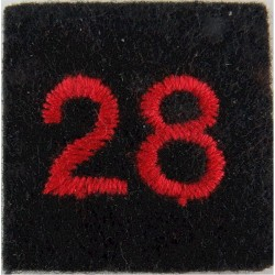 Red Cross Detachment Number 28 Red On Navy Blue  Embroidered Ambulance Insignia