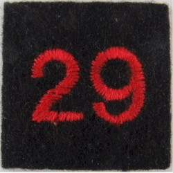 Red Cross Detachment Number 29 Red On Navy Blue  Embroidered Ambulance Insignia